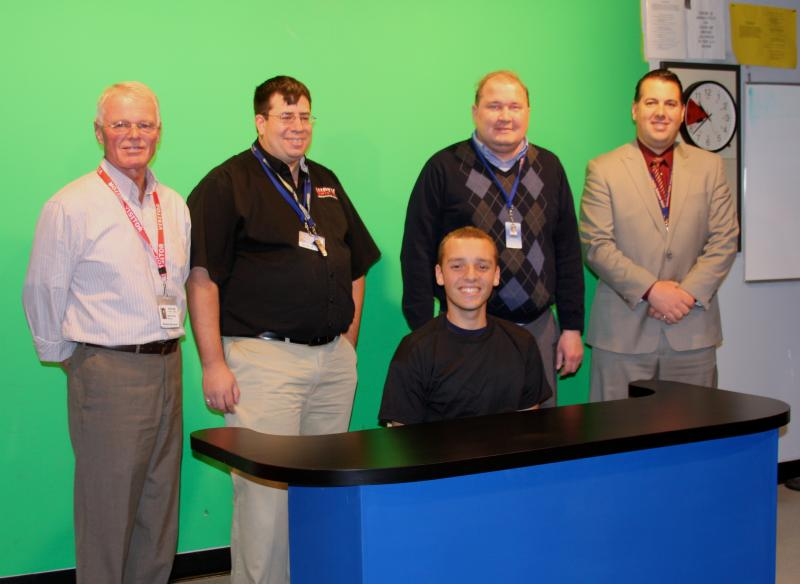 New News Desk Donated To High School