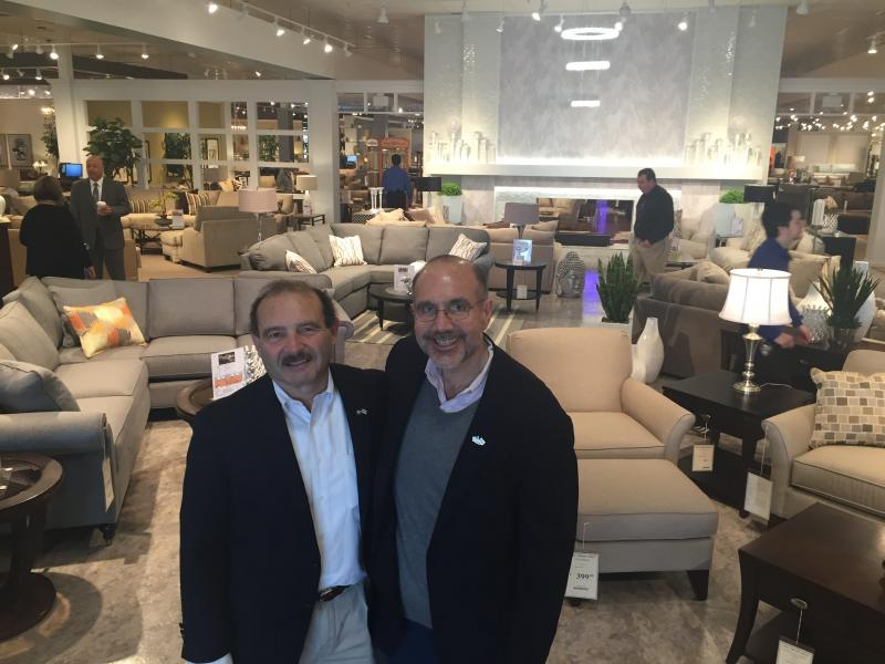 From Left Ron And Peter Cardi At The Grand Opening Of Wareham S Furniture By Matthew Bernat