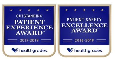 Healthgrades Patient Safety+Patient Experience awards